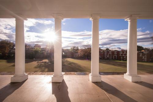 photo of colonnades above Lambeth Field